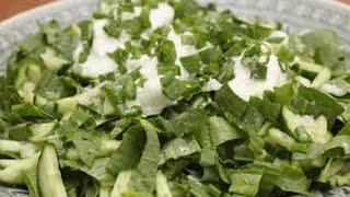 Зелёный салат со щавелем