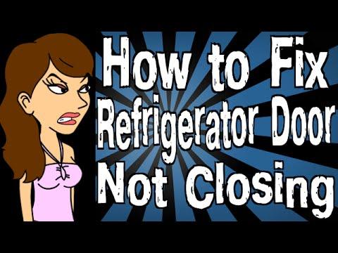 Repeat how to fix refrigerator door not closing by for Door not closing