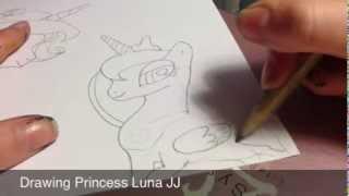 How to draw princess Luna JJ