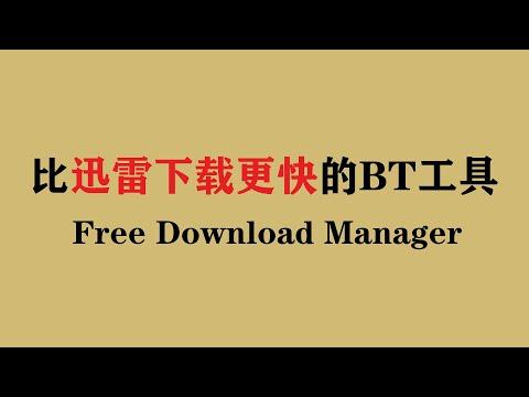 比迅雷下载更快的BT种子下载工具 Free Download Manager