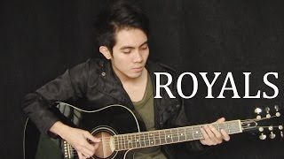 Royals - Lorde cover (fingerstyle guitar + free tabs)