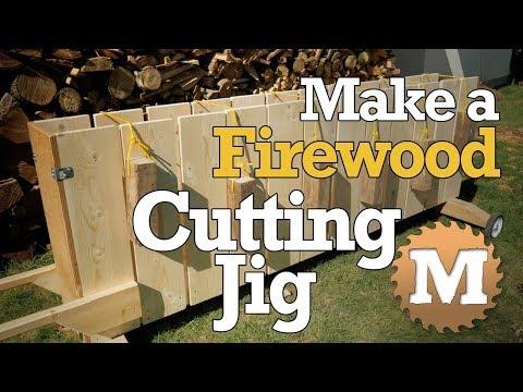 Build a Firewood Cutting Jig - DIY Wood Processor