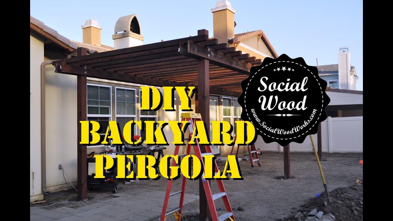 DIY Backyard Pergola - YouTube