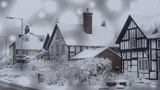 Snow storm hits North Wales Ellesmere Shropshire December 2017