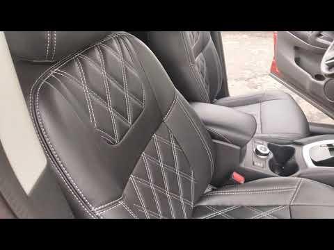Модельные авточехлы на Nissan Qashqai J11 с ромбами премиум-класса компании Brothers Tuning