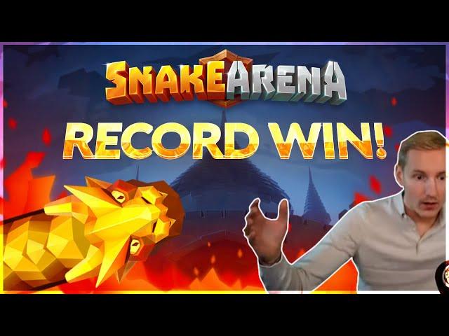 RECORD WIN! Snake Arena Big win - HUGE WIN - NEW SLOT Bonus Buy from Casinodaddy Live Stream