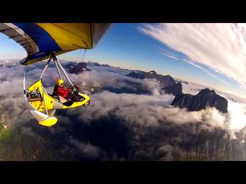 """""""MUST WATCH"""" Glacier National Park by Ultralight at 10,000 ft"""