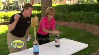 Cool Science Experiment - Original Mentos Diet Coke Geyser