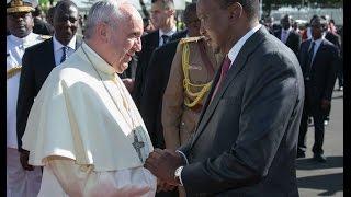 Pope Francis concludes Kenya visit, lands in Uganda