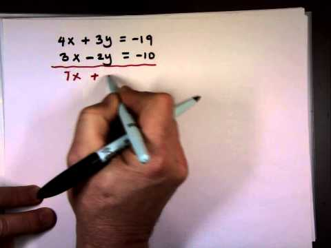 Solving Systems of Linear Equations by Elimination Method