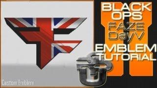 Faze Spratt/Faze DayV Logo British Flag: Call Of Duty Black Ops 2 Emblem Tutorial
