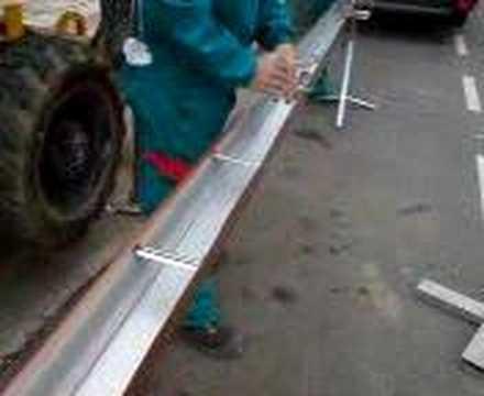 Como se pone canal n de aluminio en le n youtube for Canalon de aluminio
