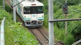 [警笛あり]阿武隈急行 8100系「福島行き」高子駅付近通過