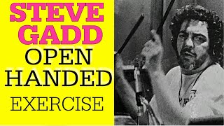 Open Handed Groove Exercise - Steve Gadd - Drumlesson - 2021