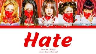 4Minute (포미닛) - Hate (Color Coded Lyrics)