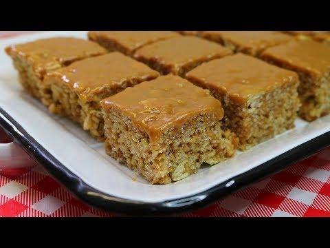 Caramel Apple Rice Cereal Treats ~ Noreen's Kitchen