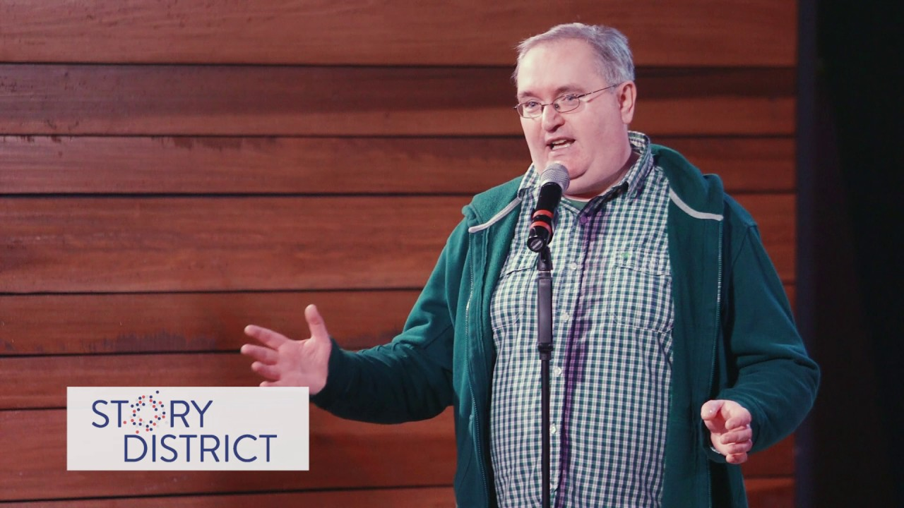 Mick McVey in Story District's Schadenfreude: Stories about taking pleasure  in another's pain