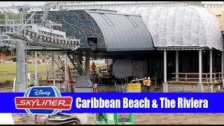 Disney Skyliner Construction Update Caribbean Beach to the Riviera Resort