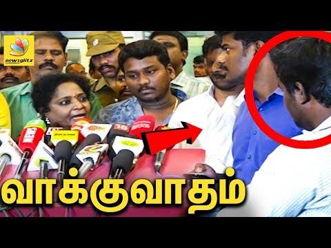 நிருபருடன் வாக்குவாதம் : Tamilisai Soundararajan blasts out | Gaja cyclone
