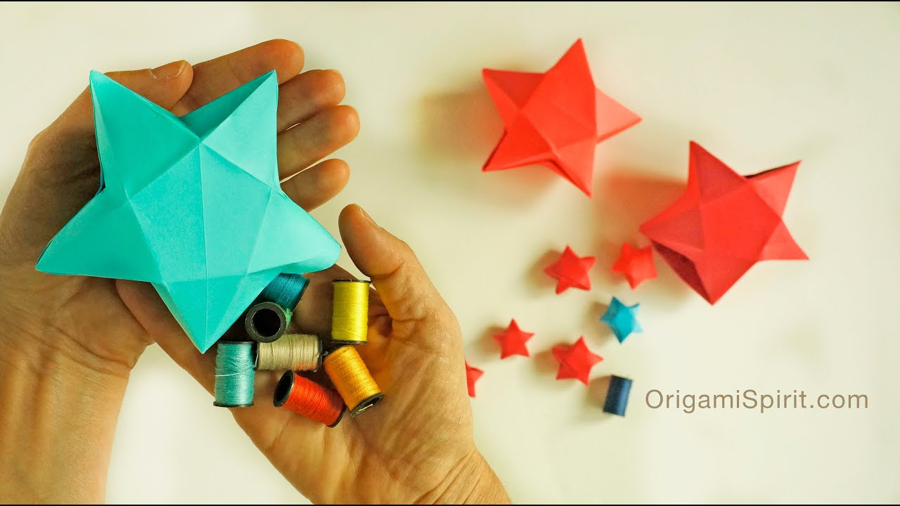 origami star box for christmas caja estrella youtube