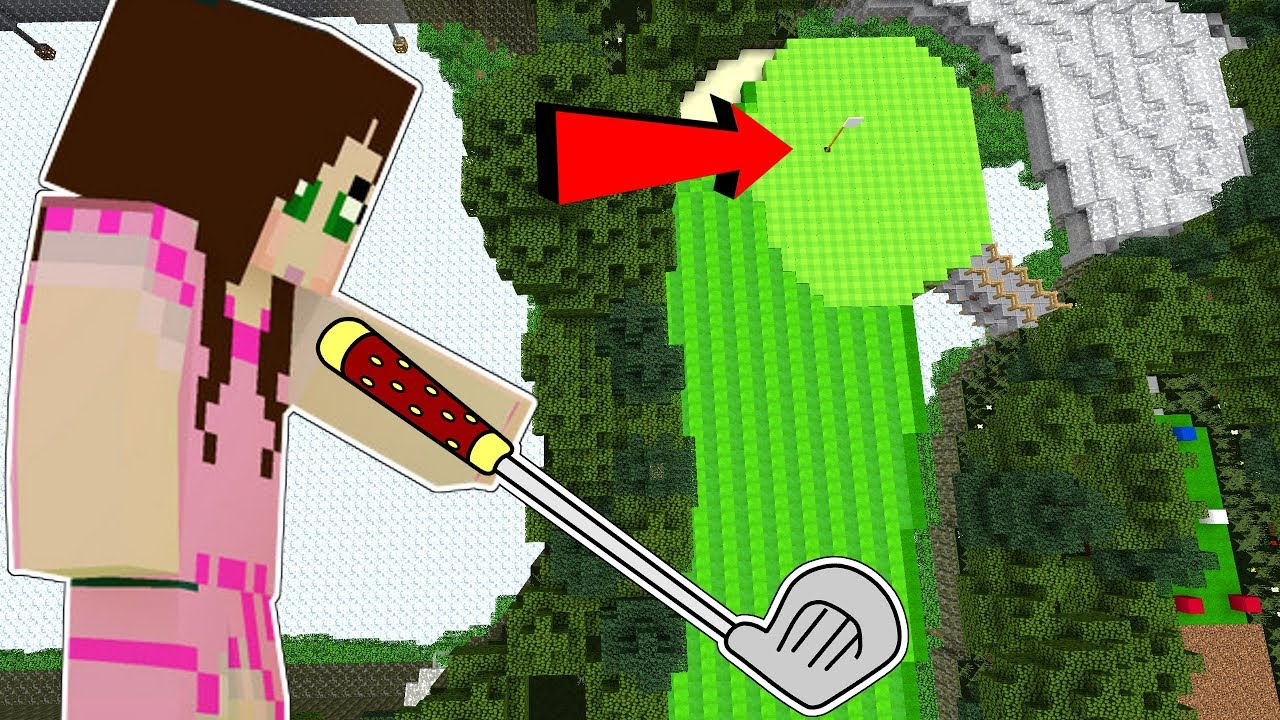 Minecraft: GOLF CHALLENGE!!! (MASSIVE GOLF COURSE!) Custom Map [1]