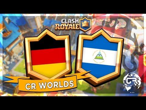 ALLEMAGNE VS NICARAGUA - CR Worlds MATCH AMICAL sur CLASH ROYALE