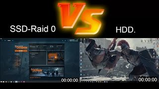 SSD Raid 0. Vs. HDD./The Division load time