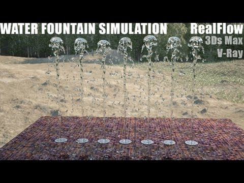 Water Simulation - RealFlow, 3Ds Max, VRay