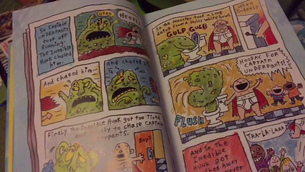 The Adventures Of Captain Underpants In Full Color Youtube