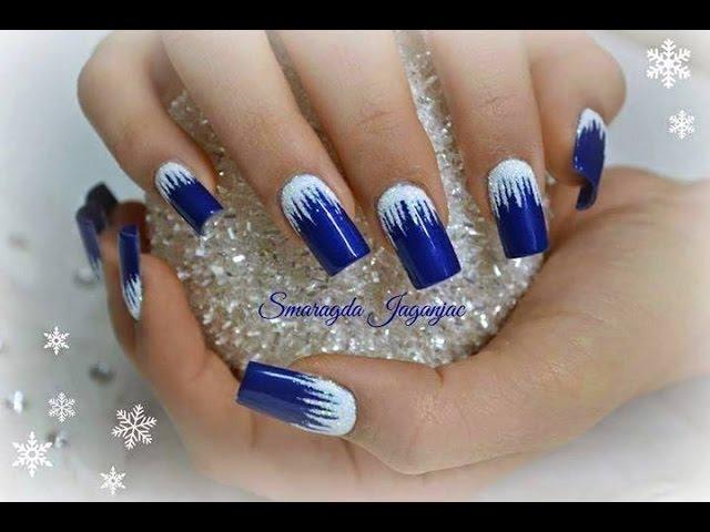 Christmas Nails Art Modele Unghii De Iarna Craciun Youtube
