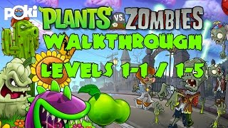 Plants vs Zombies! Walkthrough Episode 1