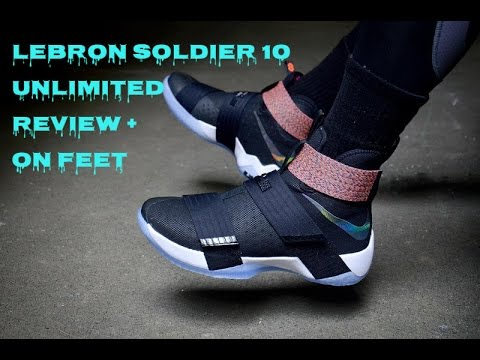 wholesale dealer 4a1bb e2e1c The Nike LeBron Zoom Soldier 10 Unlimited Review + on feet