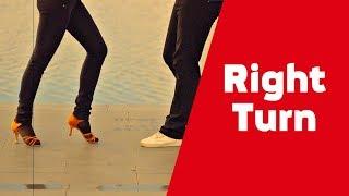 Cальса видео уроки для начинающих. Правый поворот (Right Turn SALSA NY)