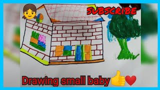 Drawing small baby,|#