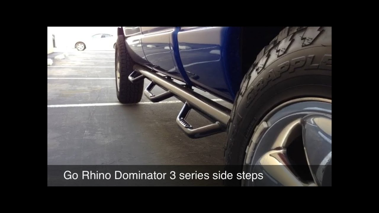 Go Rhino Running Boards >> Dodge ram go rhino dominator 3 side step review - YouTube