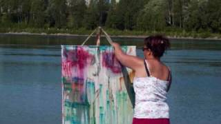 Painting IN the river - AX  ART