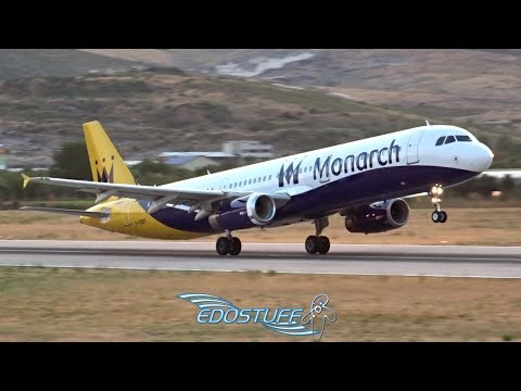 Farewell Monarch Airlines - Airbus A321 Takeoff from Split Airport LDSP/SPU