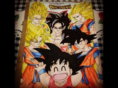 Desenhando Goku todas as fases Drawing Goku All phases - Speed Art