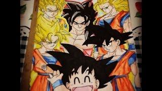 Desenhando Goku todas as fases (Drawing Goku All phases) - Speed Art Resimi