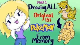 Drawing Original 151 Pokemon From Memory Part 1