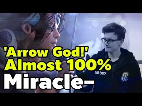 Miracle- 9K! Mirana 'Arrow God!' Almost 100%