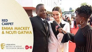 Emma Mackey & Ncuti Gatwa on Sex Education & Season 2 | BAFTA TV Awards 2019