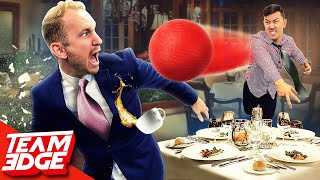 We played Dodgeball in a 5 Star Restaurant! *things got messy😂*