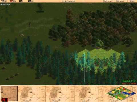 1x1 AOE RM rev - KGB_Crazy vs UnbrokeN ( puma ) - Age of Empires 1 - Peon Invasion