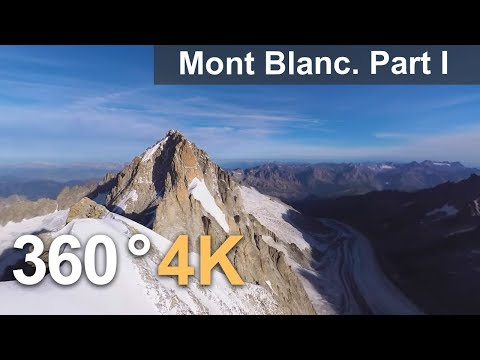 360°, Mont Blanc, Italy-France. Part I. 4К aerial video