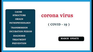 corona virus  | covid -19 | cause , structure , pathophysiology , symptoms , treatment , prevention