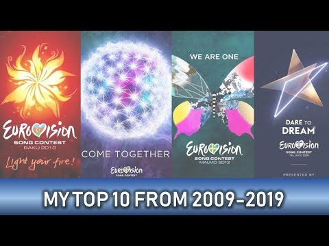 MY EUROVISION TOP 10 OF EACH YEAR 2009-2019