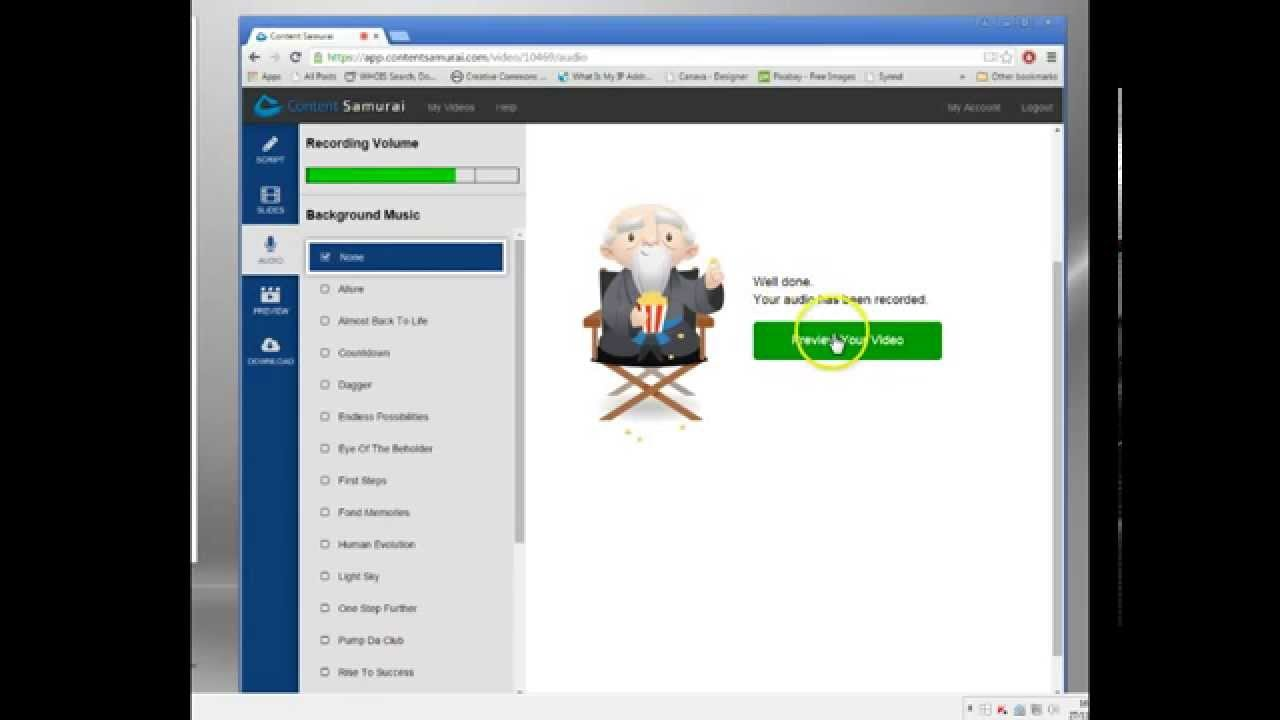 Online Slideshow Software - Free Trial - Content Samurai