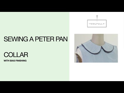 Sewing a collar with bias. - YouTube