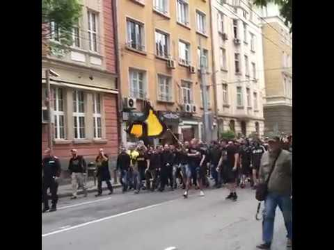 Botev Plovdiv corteo before the Cup final 24.05.2017
